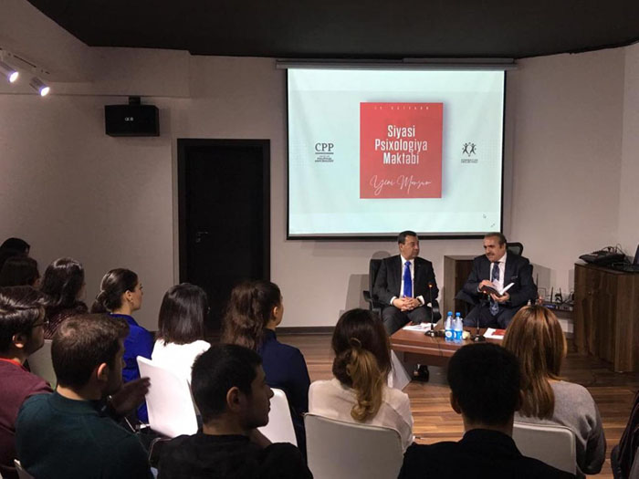 Academician Rafael Huseynov delivered a lecture at Political Psychology Center