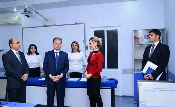 President of ANAS acquainted with the process of English language examination for master's degree students