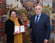 "Associate of National Museum of Azerbaijan Literature awarded the medal ""The best patriotic researcher-scientist"""
