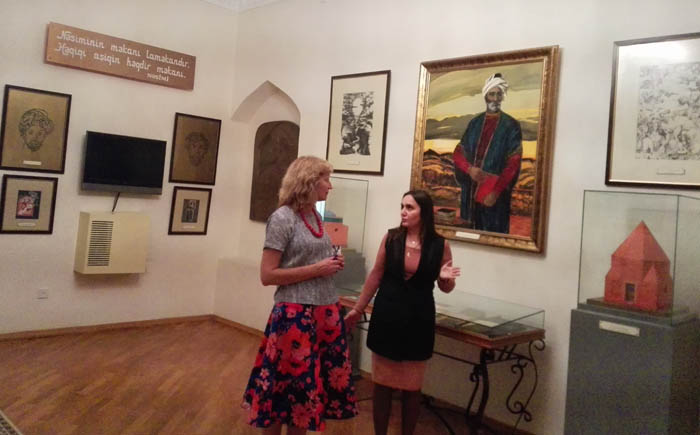 ANAS National Museum of Azerbaijan Literature made quite an impression on the Finnish poetess