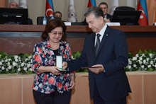 Employer of National Museum of Azerbaijan Literature awarded a high state award