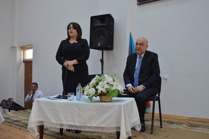 Meeting with national writer Chingiz Abdullayev