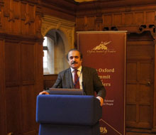 Azerbaijani scientist made a presentation on shared values in Oxford