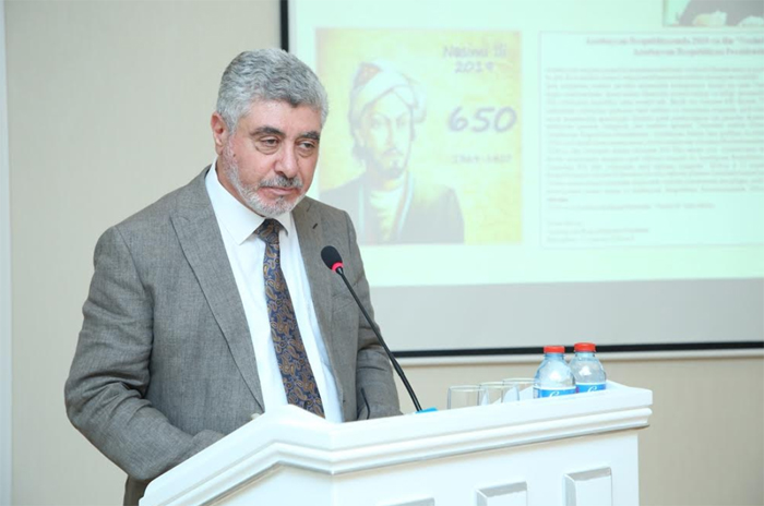 "Report on ""The universal significance Nasimi's humanism"" delivered at ANAS meeting"