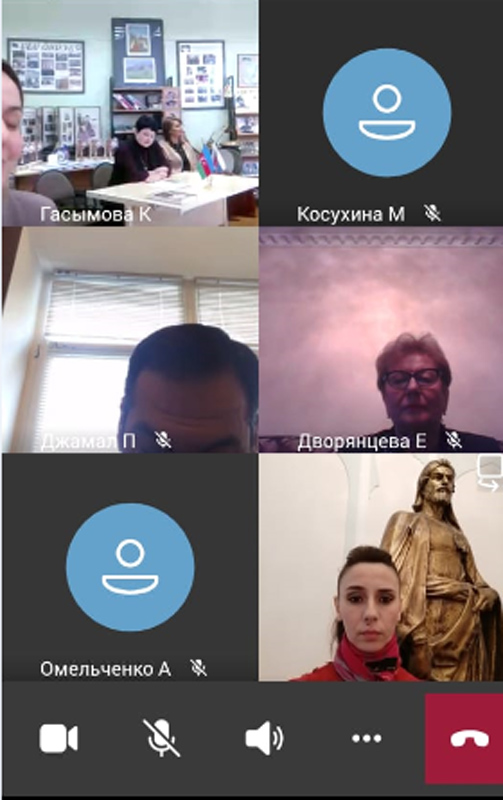 An employee of the museum attended the video conference in Moscow