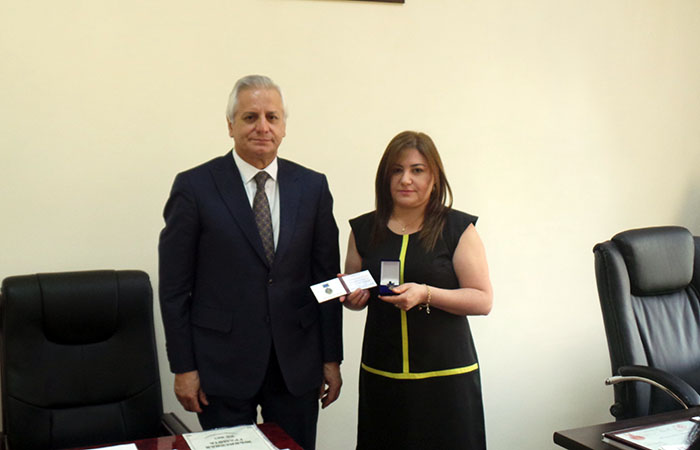 "Ceyran Ganbarli awarded with ""25th Anniversary badge of Azerbaijani Trade Unions Confederation"""