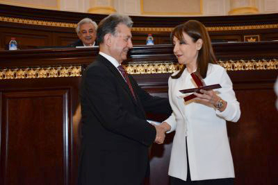 "Corresponding member of ANAS Nargiz Pashayeva awarded the ""Gold Medal after Nizami Ganjavi"""